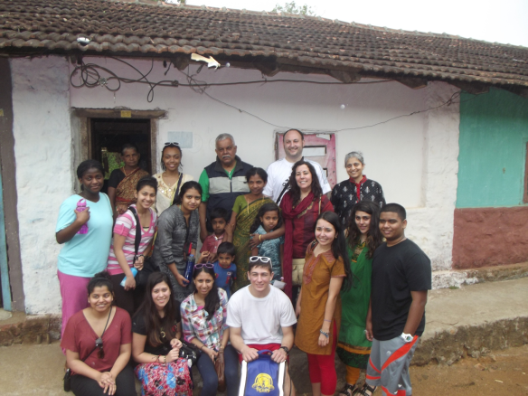 Students and staff visit their partner family in Kanjirappally