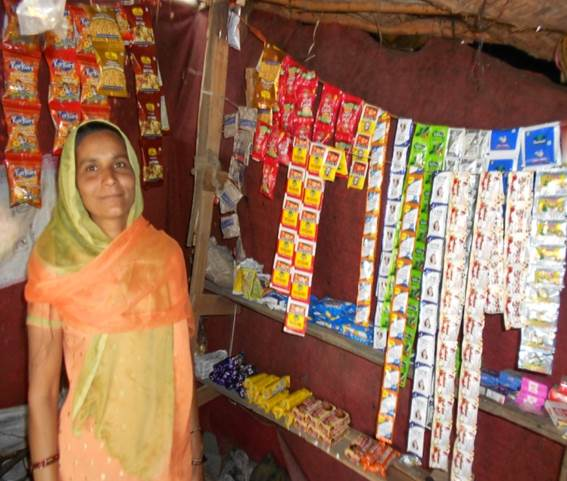 Farah in her shop
