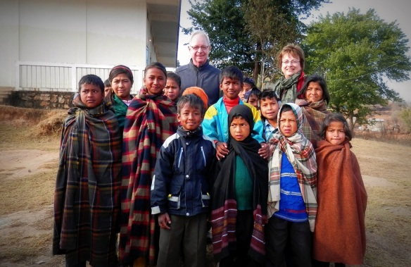 Visiting School Children in Meghalaya