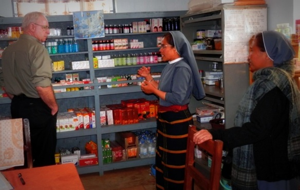 The dispensary run by the Sisters is an integral part of the community
